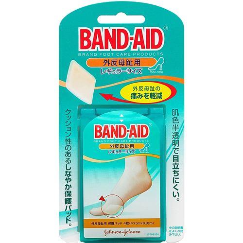 ジョンソン・エンド・ジョンソン(Johnson & Johnson) バンドエイド(BAND-AID) 外反母趾用 レギュラーサイズ (4枚入) 【衛生用品】