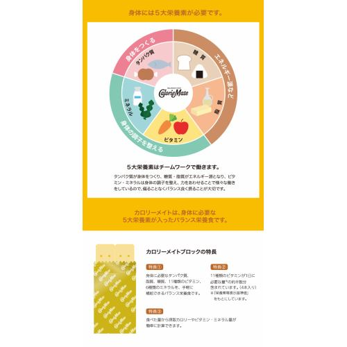 カロリーメイト ブロック プレーン(4本入(80g))【機能性食品】