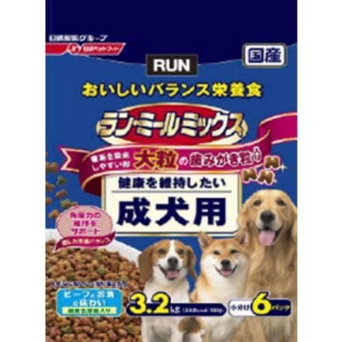 日清ペットフード 523710 ラン・ミールミックス 大粒成犬用  3.2kg