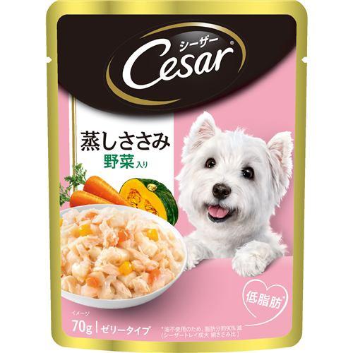 マースジャパンリミテッド CEP2  シーザー 蒸しささみ 成犬用/ゼリータイプささみ・野菜入り  70g