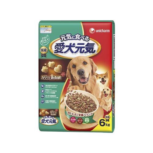 ユニ・チャーム  愛犬元気 ささみ・ビーフ・緑黄色野菜入り  6kg