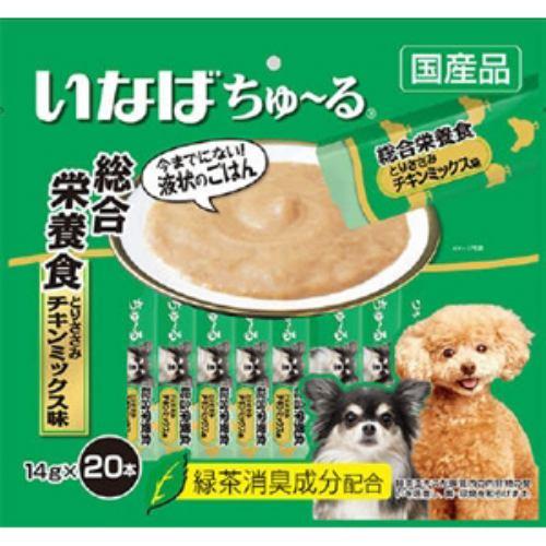 いなばペットフード DS-121 ちゅーる20本入り総合栄養食 とりささみ チキンミックス味 14g×20本